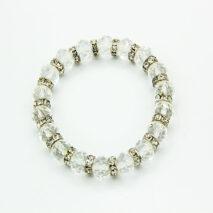 White Crystal elasticated bracelet