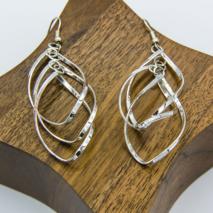 Long Twisted Dangly Earrings