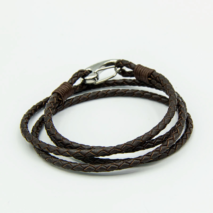Men's Brown Leather rope style bracelet