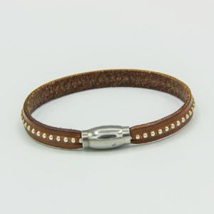 Slim Tan Leather Bracelet