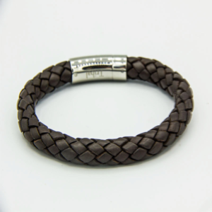 8mm thick brown leather bracelet