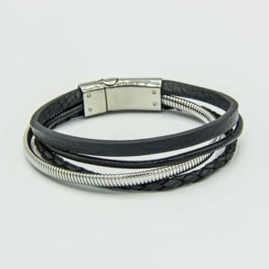 Multi Strand leather bracelet