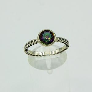 Mystic Topaz Facet Ring