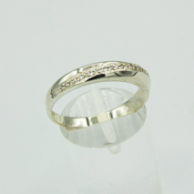 Silver Band with micro set CZ detail