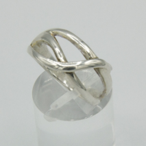 Silver Open Crossover Ring