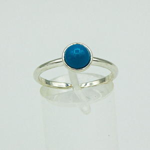 Adjustable Blue Stone Ring