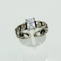 Adjustable Clear Stone ring
