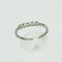 Adjustable 5 CZ Stone Ring