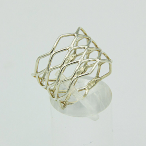 Silver Wire Weave Ring
