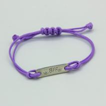 Kids Lilac 'BFF' message bracelet