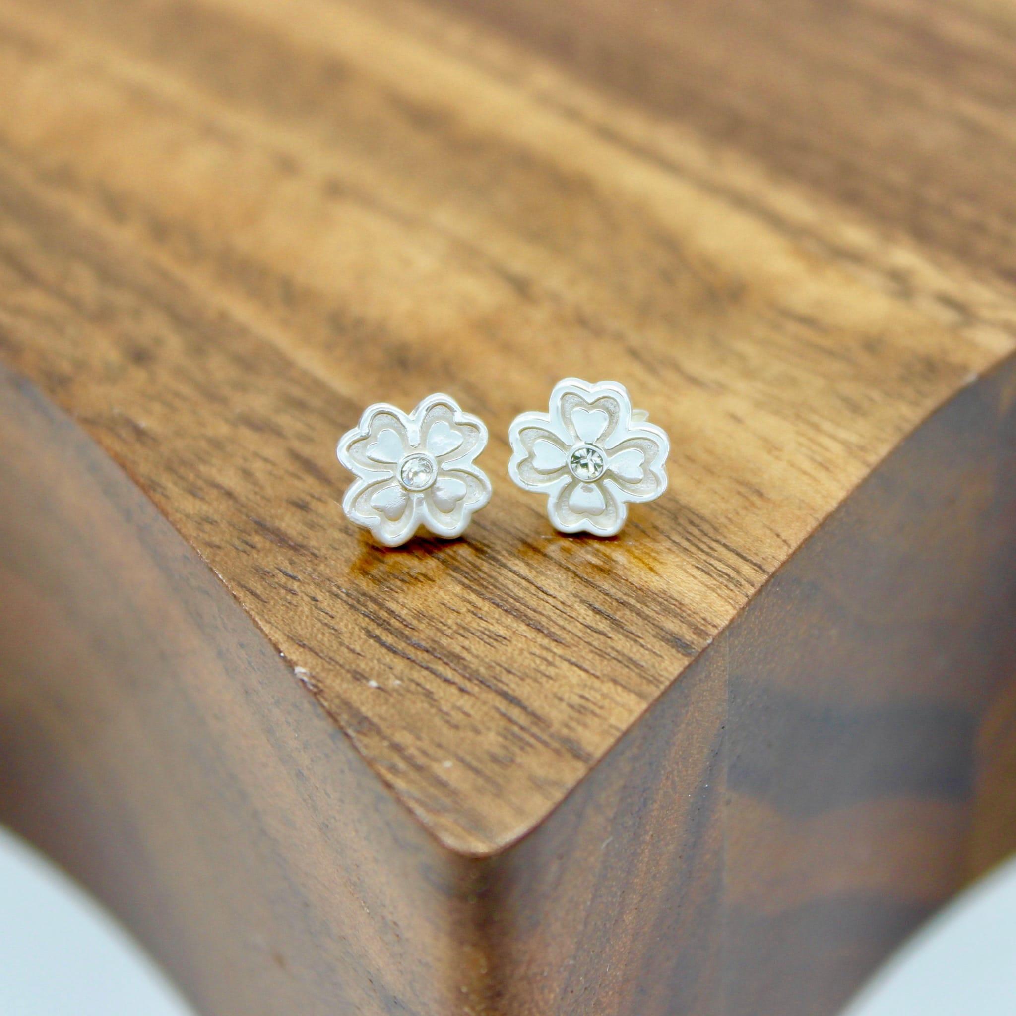 Crystal Lucky Clover Stud earrings