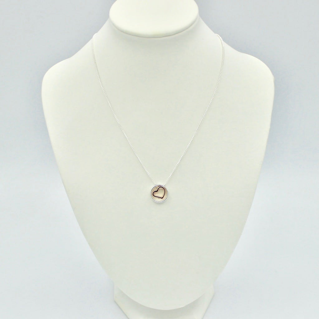 Heart in Circle Necklace