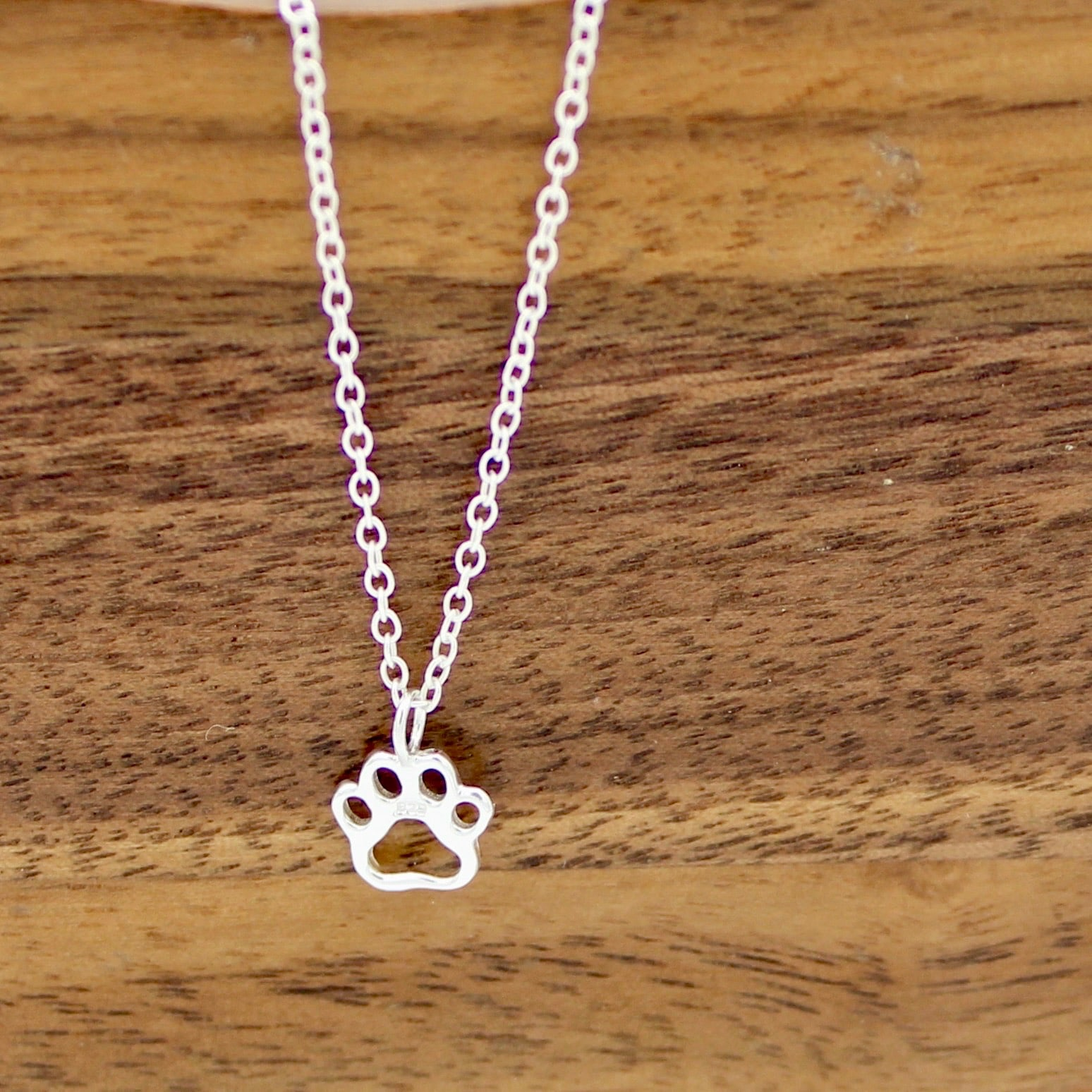 Open Paw Print Necklace