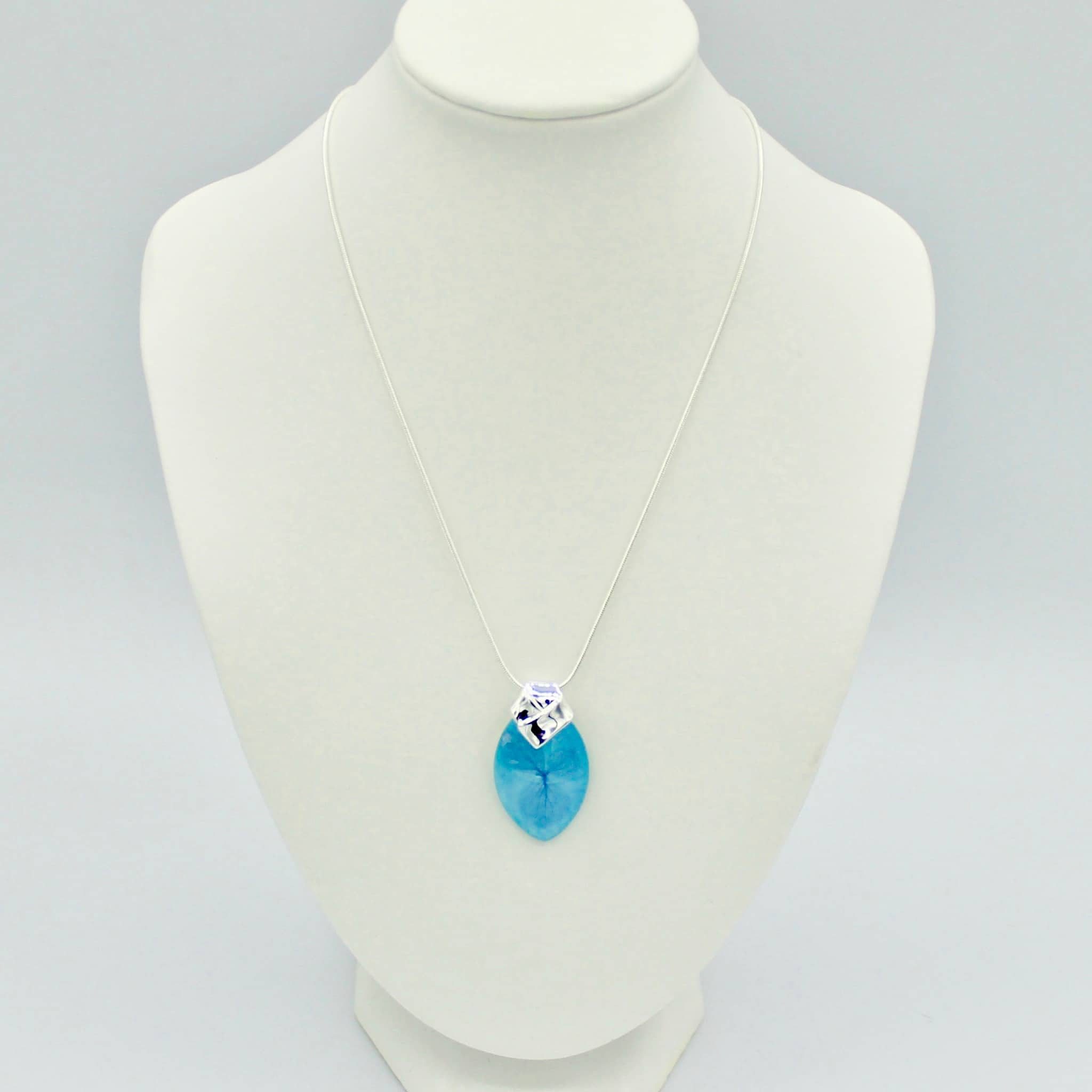 Blue Glass Stone Necklace