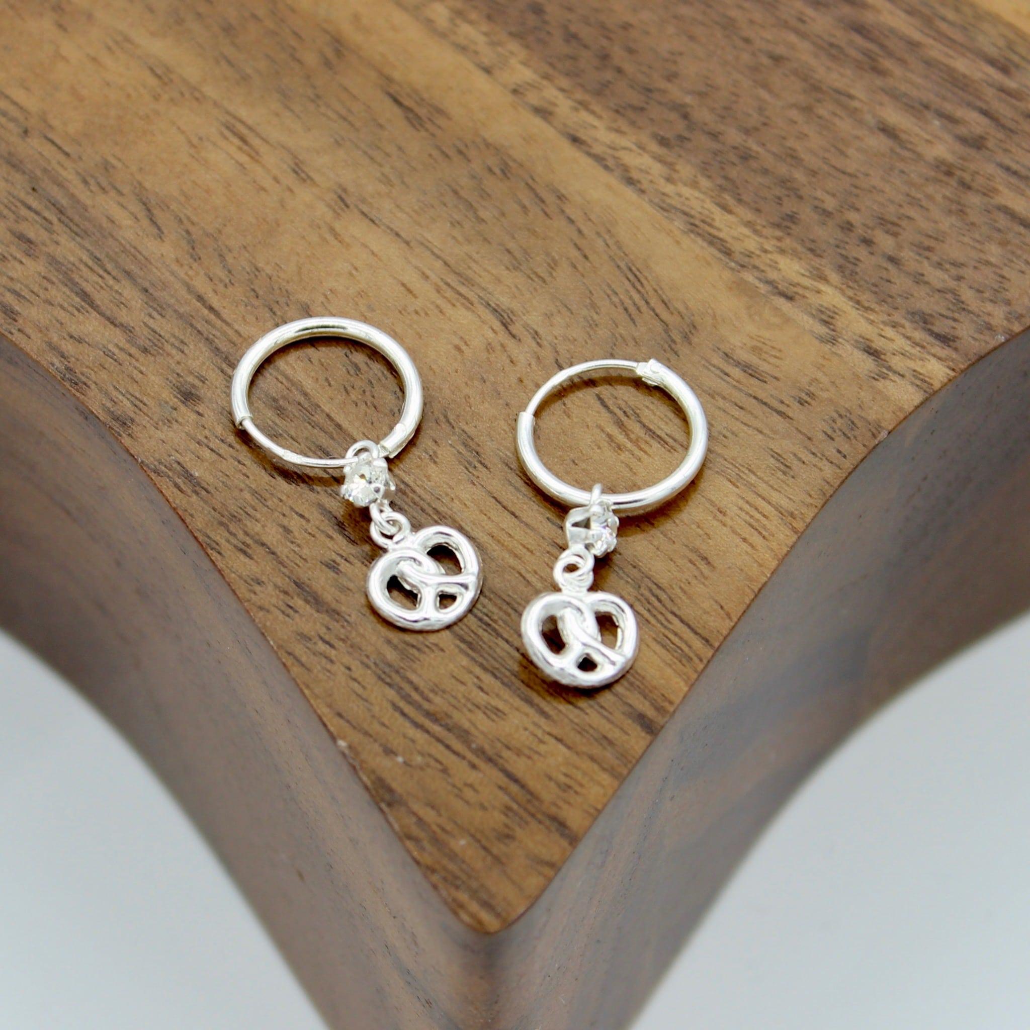 Infinity Knot Crystal Earrings